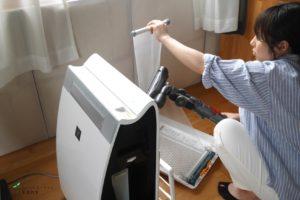 空気清浄機の清掃2