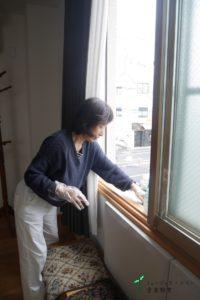 換気窓の清掃1