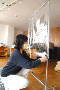 ビニールカーテン4_コロナ対策_ミュージック・ツリー音楽教室(奈良橿原)